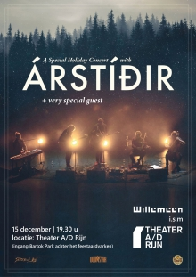 *UITVERKOCHT* A christmas evening with Árstíðir + special guest -> locatie Theater a/d Rijn