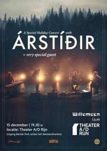 *UITVERKOCHT* A christmas evening with Árstíðir + special guest -> locatie Theater a/d Rijn