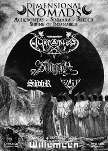 Acherontas (GR, DE, IT) + Sinmara (IS) + Slidhr (IE) + Shrine Of Insanabilis (DE)