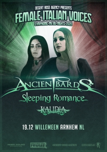 Cancelled: Ancient Bards + Sleeping Romance + Kalidia