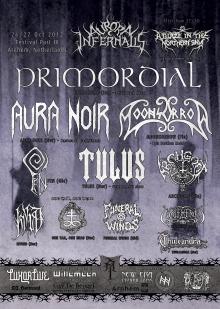 Aurora Infernalis part IV met: Isvind + Primordial + Aura Noir + Tulus + Fen + Archgoat ea.