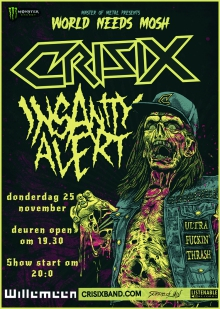 Back To Thrash presents: Crisix + Insanity Alert