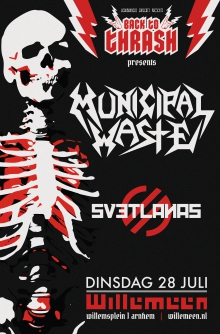 Back To Thrash presents exclusive NL club show: Municipal Waste  (US) + Svetlanas (IT/RU)
