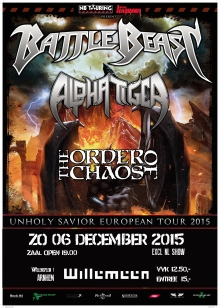 Battle Beast (FIN) + Alpha Tiger (DE) + The Order Of Chaos (CAN) EXCL NL SHOW