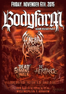 Bodyfarm (Album Release Show) + Funeral Whore + Dead Man's Walk + The Heritance