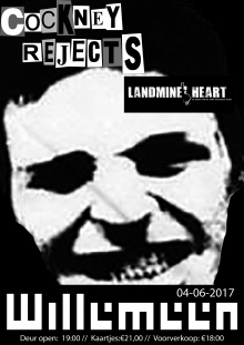 cockney rejects (uk) + Landmine Heart Excl. NL Show!