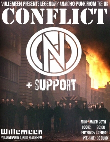 Conflict (UK) exclusive NL show + support