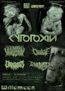 Cytotoxin (Ger) + Orphalis (Ger) + Human Vivisection (Be) + Obsolete Incarnation (Fr) +  Dehumanization (NL)