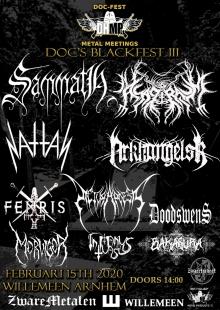 Doc's Blackfest III met: Sammath + Asagraum + Fenris + Nattas + Arkhangelsk + In Manus Tuas + Pictura Poesis + Morvigor + Bakasura