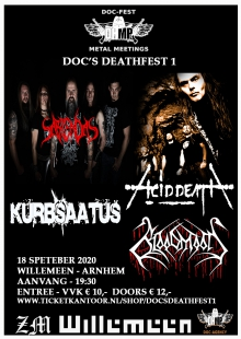 Doc's Deathfest 1 met: Sabiendas (D) + Acid Death (GR) + Procreation + Bloodmoon