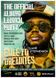 Duane Stephenson (JAM, officiële album release party + Jah Lil (JAM)