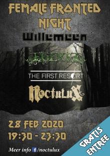 Female Fronted Night met:  Noctulux + The First Resort + Egeria