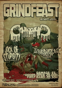 GRINDFEAST: CUNTEMONIUM (DE) + SICK OF STUPIDITY + DEHUMANIZATION