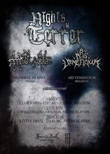 Handful Of Hate (ITA) + Entraid Engrin (NL) + Ars Veneficium (BE)