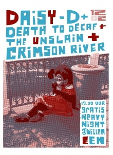 HeavyNight: Daisy D + Death to Decaf + The Unslain + Crimson River