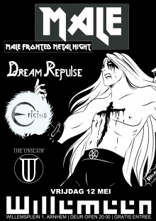 Male Fronted metal night met: Dream repulse  + Ericius + The Unslain
