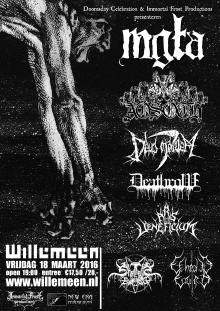 MGLA (PL) + Aosoth (FR) + Deus Mortem (PL) + Deathrow (IT) +  Ars Veneficium (BE) Stream Of Blood (DE) + Ethraid Engrin (NL)