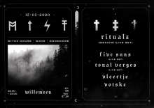 Wordt Verplaatst MIST met: Ritualz (MEX) + Five Suns + Tonal Verges + Vleertje + Votske
