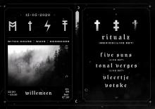Afgelast: MIST met: Ritualz (MEX) + Five Suns + Tonal Verges + Vleertje + Votske