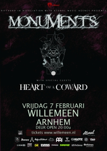 Monuments (UK) + Heart Of A Coward (UK)