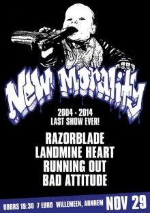 New Morality (last show ever!!!) + Razorblade + Bad Attitude + Landmine Heart + Running Out