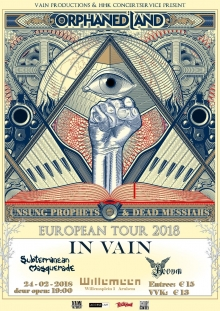 Orphaned Land (ISR) + In Vain (NO) + Subterranean Masquerade + Aevum EXCL NL Show!