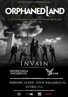 Orphaned Land (ISR) + In Vain (NO) + Subterranean Masquerade + Aevum EXCL NL Show!