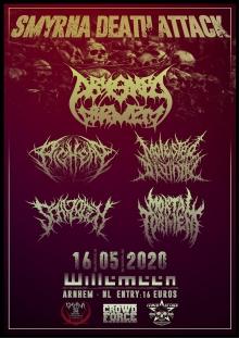 Smyrna Death Attack w/ Pighead (DE) + Abysmal Torment (MT)  + Mortal Torment (GR) + Molested Divinity (TR) + Schizogen (UA)