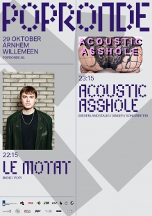 Popronde 3voor12 met:  Acoustic Asshole  + Le Motat + Luna Morgenstern + Nonchelange