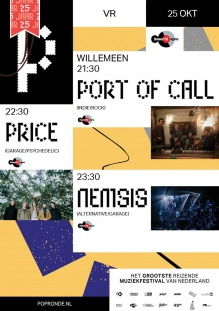 Popronde 3voor12 podium met: Nemsis + Port Of Call + Price