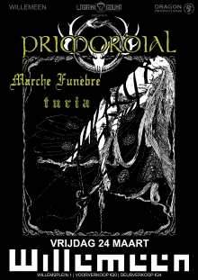 Primordial (IE) + Marche Fun�bre (BE) + Turia EXCLUSIVE NL SHOW!