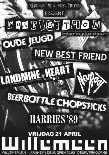 PUNKATHON met: Oude Jeugd + Landmine Heart + New Best Friend + Neuroot + Beerbottle Chopsticks + Harries'89