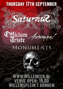 Saturnus (DK) + Officium Triste +  Autumnal (SP) + Monuments