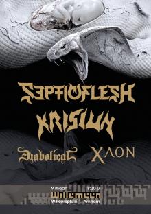 Septicflesh (GR) + Krisiun (BR) + Diabolical (SE) + Xaon