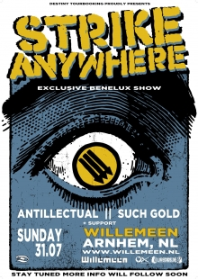 Strike Anywhere (US) + Antillectual (release show) + Such Gold (US)  Exclusieve BeNeLux show