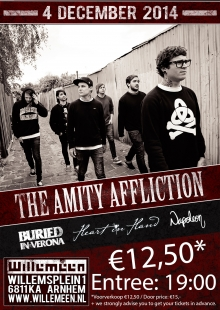SOLD OUT! The Amity Affliction (Aus/ EXCL NL SHOW) + The Plot In You (USA) + Heart In Hand (UK) + Napoleon (UK)