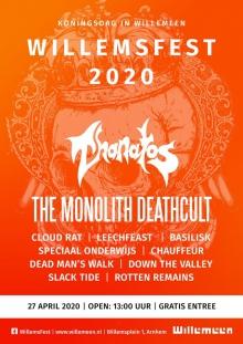 Afgelast: WillemsFest 2020: Thanatos + The Monolith Deathcult + Dead Man's Walk + BasilisK + Slack Tide + Chauffeur + Speciaal Onderwijs + Rotten Remains + Down The Valley + TBA