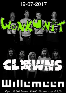 Wonk Unit (UK) + Clowns (AUS)