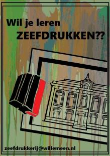Cancelled: Zeefdruk cursus  (1 middag)